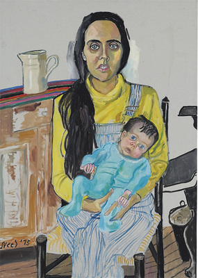 Alice Neel, Ginny and Elizabeth, 1975, oil on canvas, 42 × 30